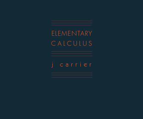 Elementary Calculus, J. Carrier, Mack
