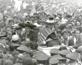 Apollo 11 Astronauts swarmed by thousands In Mexico City Parade on September 23,1969 © courtesy Nasa