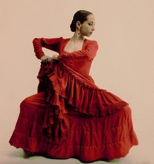 Flamenco dancer Belén Maya, Studio portrait 1996 © courtesy and image by Gilles Larrain