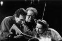 Claudio Abbado with Daniel Barenboin and Berliner Philharmoniker's musician, 1995 © courtesy Contrasto/Cesare Colombo