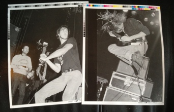 Proof pints of Steve Double's images © courtesy of Bruce Pavitt/'Experiencing Nirvana' book/Steve Double