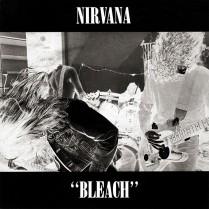 """Bleach"" album cover of Nirvana, 1989, Sub Pop records"
