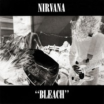 """Bleach"" album cover of Nirvana, 1989, Sub Pop records"