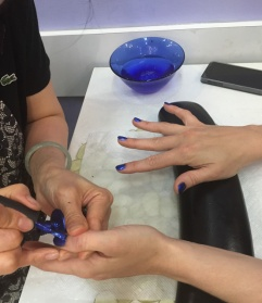Nail salon with Anouk