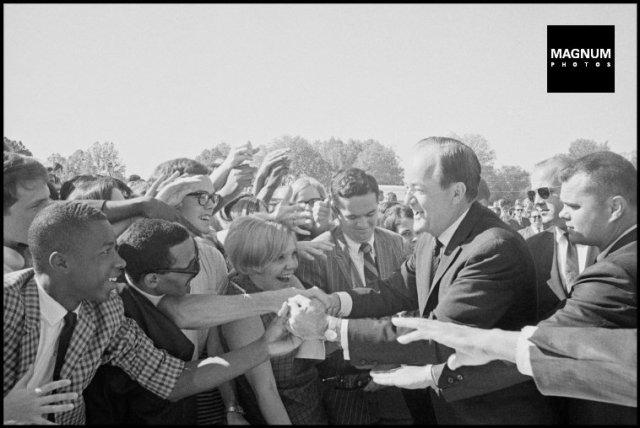 USA. Hubert HUMPHREY campaigning. 1968.