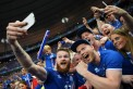 Aron Gunnarsson of Iceland takes a selfie with supporters to celebrate his team's 2-1 win after Iceland and Austria 2-1, June 22, 2016 in Paris, France, Euro 2016 (GETTY/Botterill)