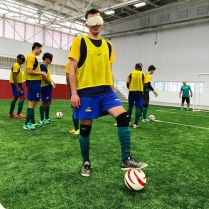 Ricardo Steinmetz Alves, o Ricardinho, Brazilian blind player at Football 5-a-side