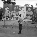 Billboard announcing the fight between Muhammad Ali and George Foreman, Kinshasa, Zaire, 1974 courtesy Magnum Agency / Abbas