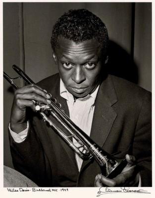 Herman Leonard, Miles Davis, Birdland, NYC, 1949